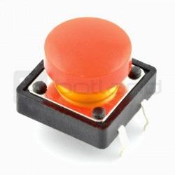 Tact Switch 12x12 mm z nasadką okrągły - czerwony