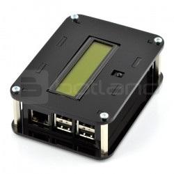 Obudowa Raspberry Pi B+ i moduł PiFace Control & Display 2 - czarna
