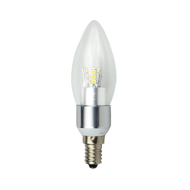 Żarówka LED ART, świecowa clear silver, E14, 4,5W, 320lm