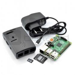 Zestaw Raspberry Pi 2 model B + obudowa + zasilacz + karta z systemem