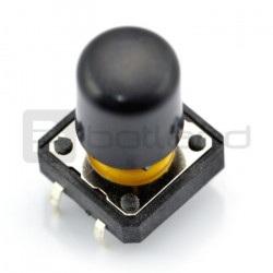 Tact Switch 12x12 mm z nasadką długi - czany