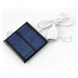 Ogniwo słoneczne 1W / 5,5V 95x95x3mm USB