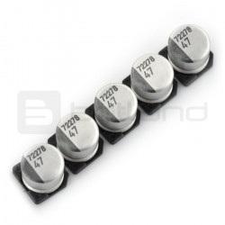 Kondensator elektrolityczny 47uF/16V SMD - 5 szt.