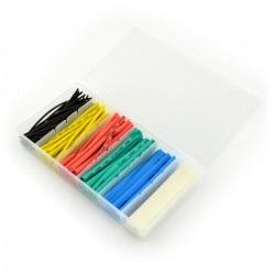 Zestaw rurek termokurczliwych HST-100C - 100 szt. - różne kolory