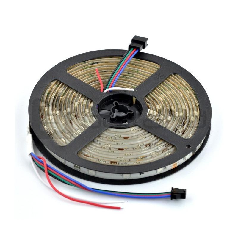 Pasek LED RGB WS2821 IP65 36 LED/m, 9W/m, 24V - 5m