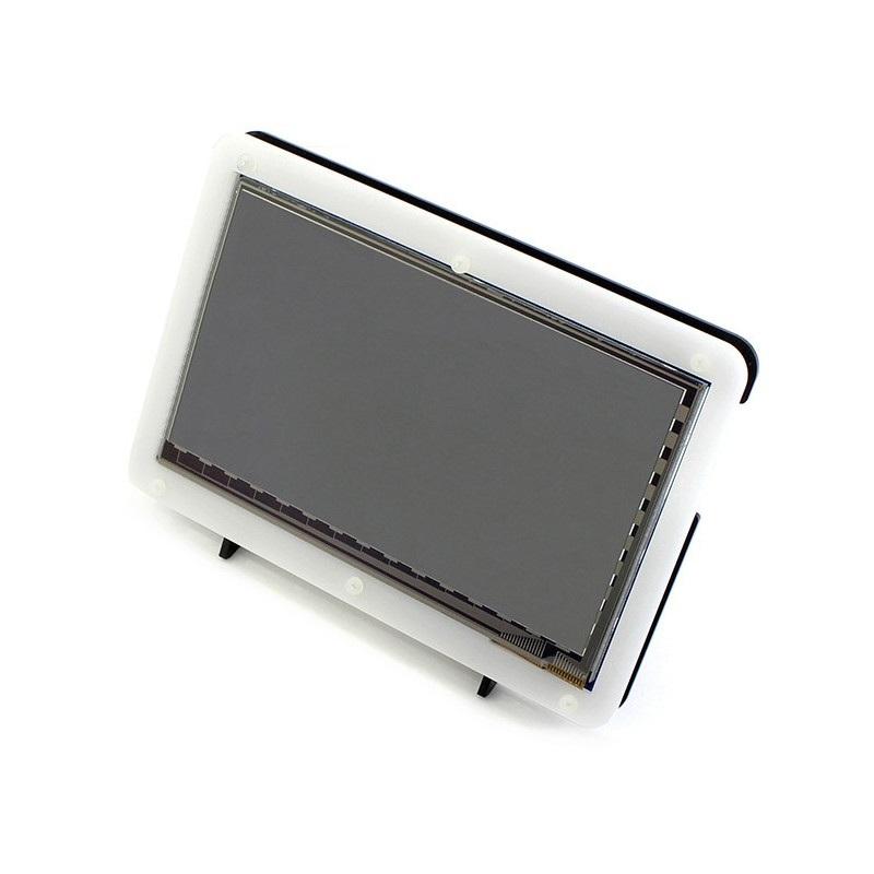 Obudowa do Raspberry Pi i ekranu LCD TFT 7'' HDMI - czarno-biała