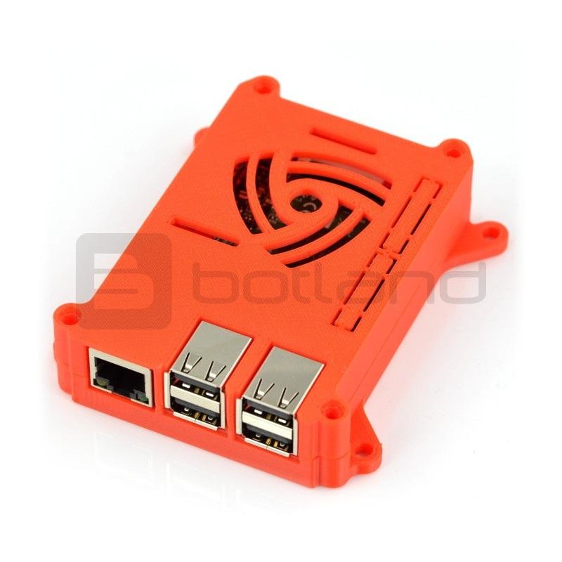 Obudowa Raspberry Pi model 3/2/B+ VESA  do montażu na monitor - czerwona