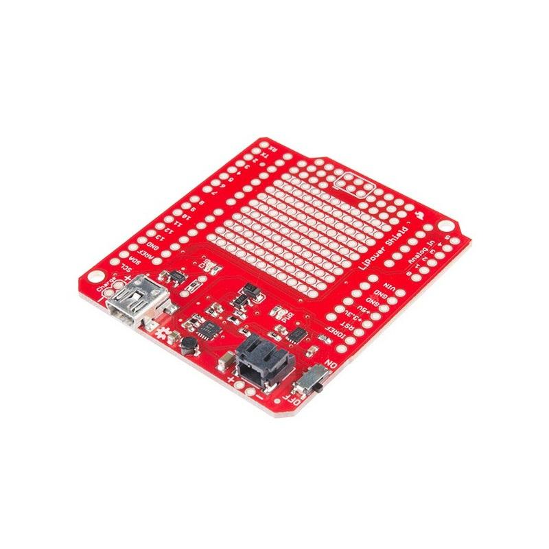 Lipower Shield - zasilanie Arduino przez baterię Lipol - moduł SparFun