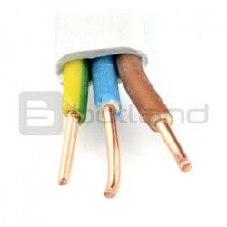 Przewód instalacyjny YDYP 3 żyłowy 2,5 mm 450/750V - 1m