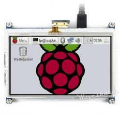 Ekran dotykowy rezystancyjny LCD 4,3'' 480x272px HDMI + GPIO dla Raspberry Pi 3/2/B+