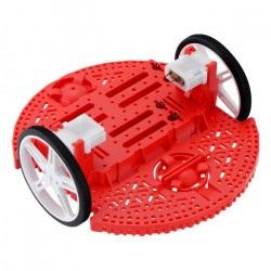 Pololu Romi Chassis Kit - 2-kołowe podwozie robota - czerwone