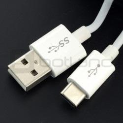 Przewód USB 2.0 typ A - USB 2.0 typ C Tracer - 3m biały