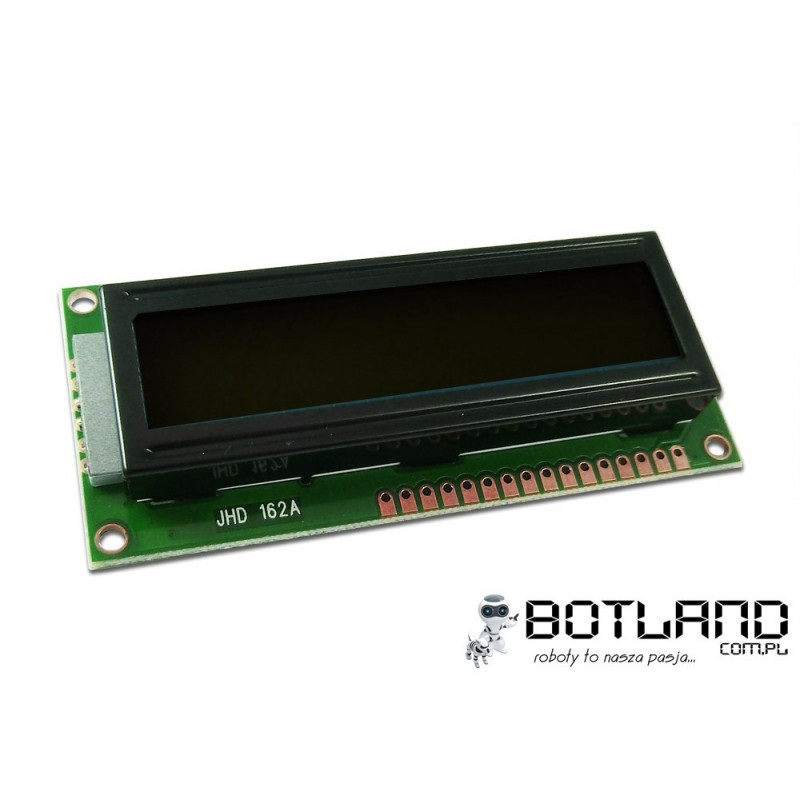 Wyświetlacz LCD 2x16 znaków czarno-biały