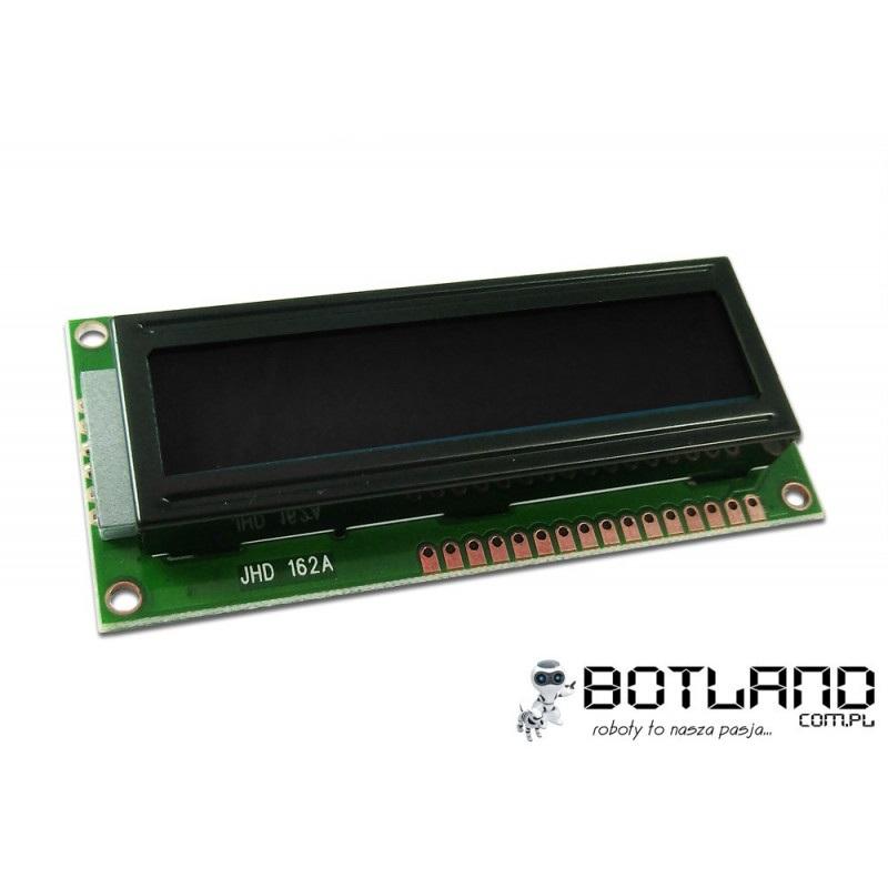 Wyświetlacz LCD 2x16 znaków czarno-pomarańczowy