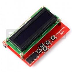 Moduł z wyświetlaczem LCD RGB - nakładka dla Raspberry Pi