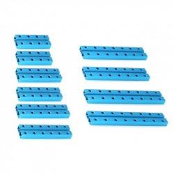 MakeBlock - krótkie belki 0824 - niebieski - zestaw