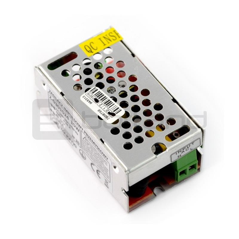 Zasilacz impulsowy przemysłowy do taśm i pasków LED 12V / 1,25A / 15W