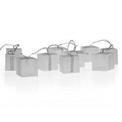 Girlanda LED - w kształcie prezentów - efekt hologramu