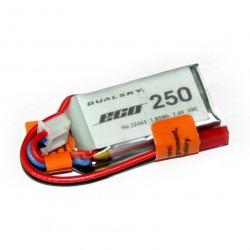 Pakiet LiPol Dualsky 250mAh 20C 2S 7.4V