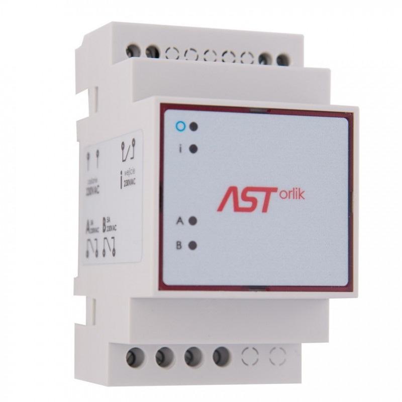 ASTorlik - sterownik oświetlenia obiektów sportowych na szynę DIN z GPS - 2 x wyjście  230V / 5A