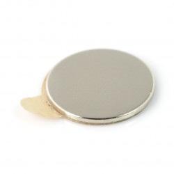 Magnes neodymowy okrągły z klejem - 15x1mm
