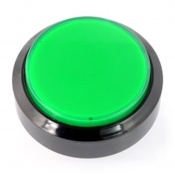 Push Button 6cm - zielony - płaski