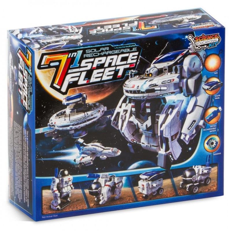 Flota kosmiczna 7 w 1 - Solar Rechargeable Space Fleet