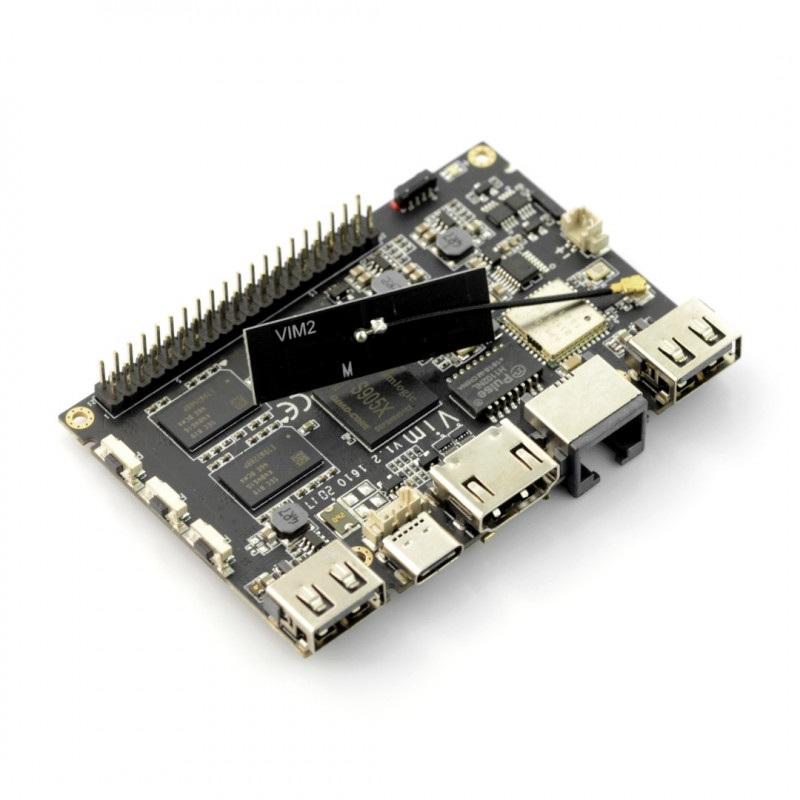 Khadas VIM Pro - ARM Cortex A53 Quad-Core 1,5GHz WiFi + 2GB RAM + 16GB eMMC