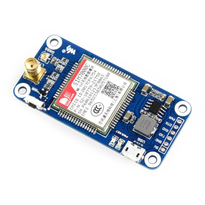 Waveshare Shield Shield NB-IoT/LTE/GPRS/GPS SIM7000C - nakładka dla Raspberry Pi 3B+/3B/2B/Zero