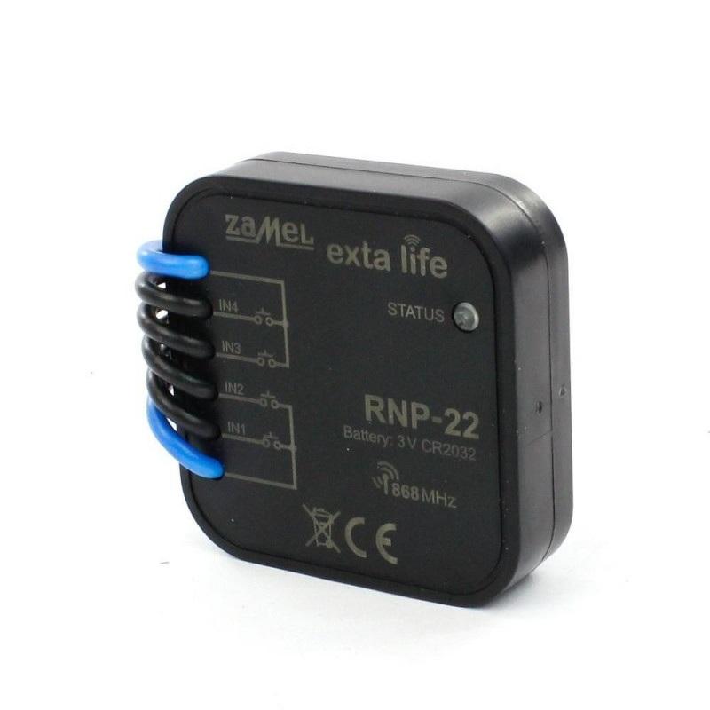 Exta Life - Radiowy nadajnik puszkowy 4-kanałowy bateryjny 3V - RNP-22