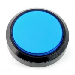 Push button 10cm - niebieski - płaski
