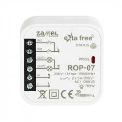 Exta Free - Radiowy odbiornik puszkowy 1-kanałowy 230V - ROP-07