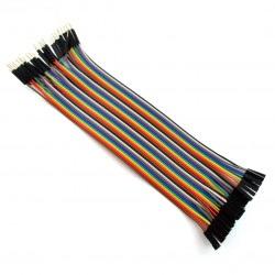 Zestaw przewodów połączeniowych - żeńsko-męskie 20cm 40szt.
