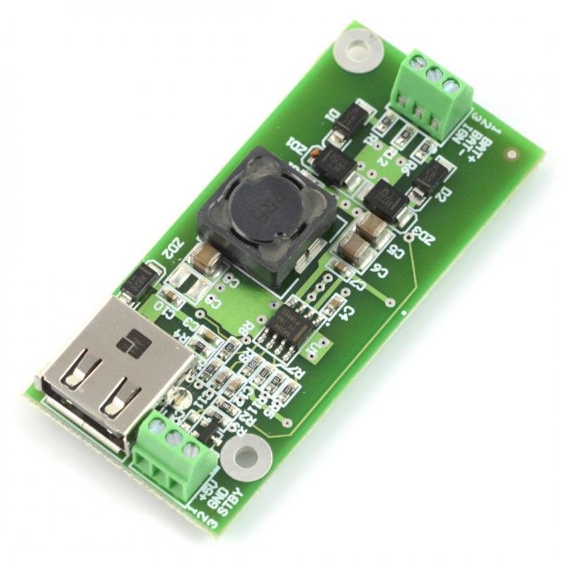 Przetwornica step-down BWS CAR PS V1 z gniazdem USB - 2,5A
