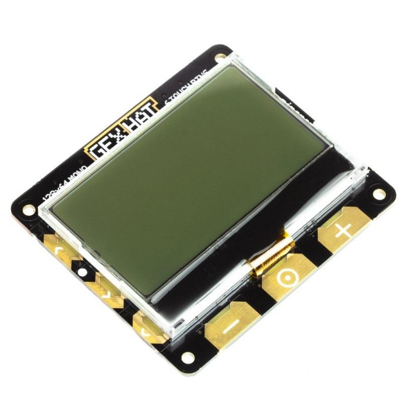 Pimoroni GFX HAT - moduł z wyświetlaczem LCD 2,15'' 128x64px z podświetleniem RGB dla Raspberry Pi