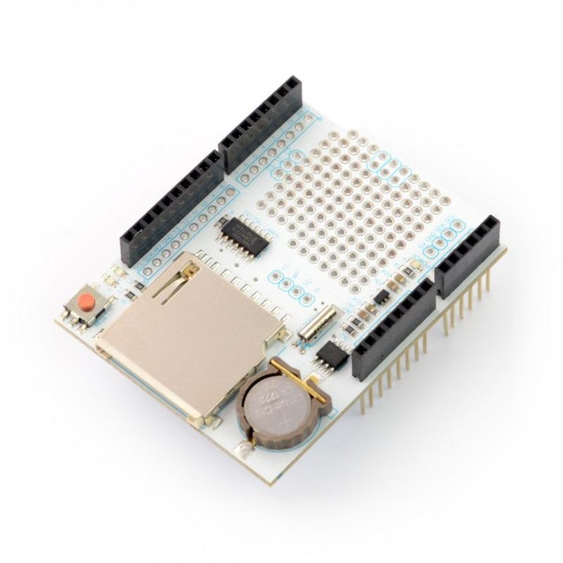 DataLogger Shield z czytnikiem kart SD dla Arduino - Velleman VMA202