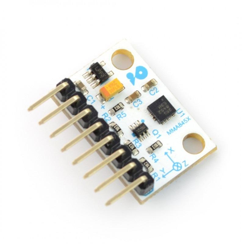 Velleman VMA208 - 3-osiowy akcelerometr cyfrowy I2C ze złączami - MMA8452Q