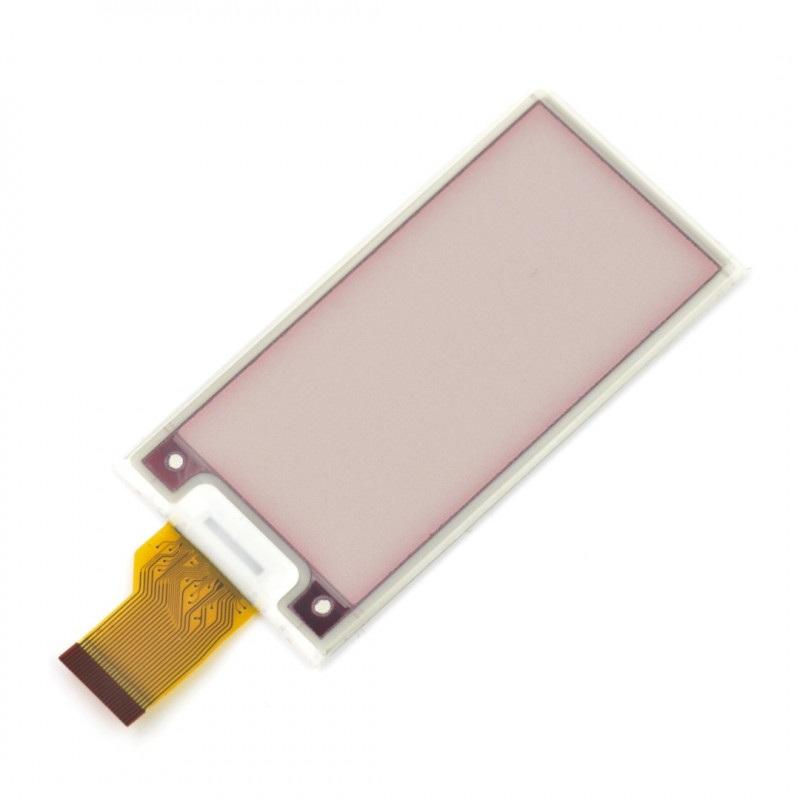 Wyświetlacz E-paper E-ink 2,66'' 296x152px - Pervasive Displays E2266FS092 - trójkolorowy