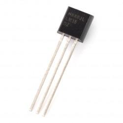 Czujnik temperatury LM35DZ NS - analogowy THT