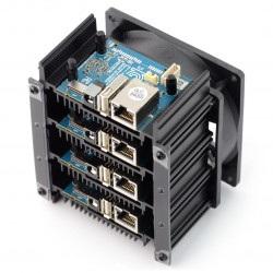 Odroid MC1 - klaster komputerowy Exynos5422 32-Core 2GHz + 8GB RAM
