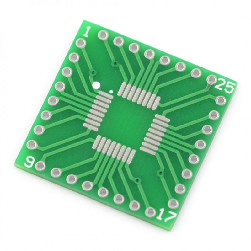 Adapter PCB - QFP32/SOP32 na DIP32
