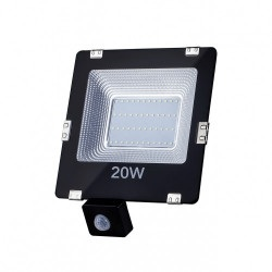 Lampa zewnętrzna LED ART, 20W, 1400lm, IP65,  AC230V, 4000K, sensor - biała naturalna