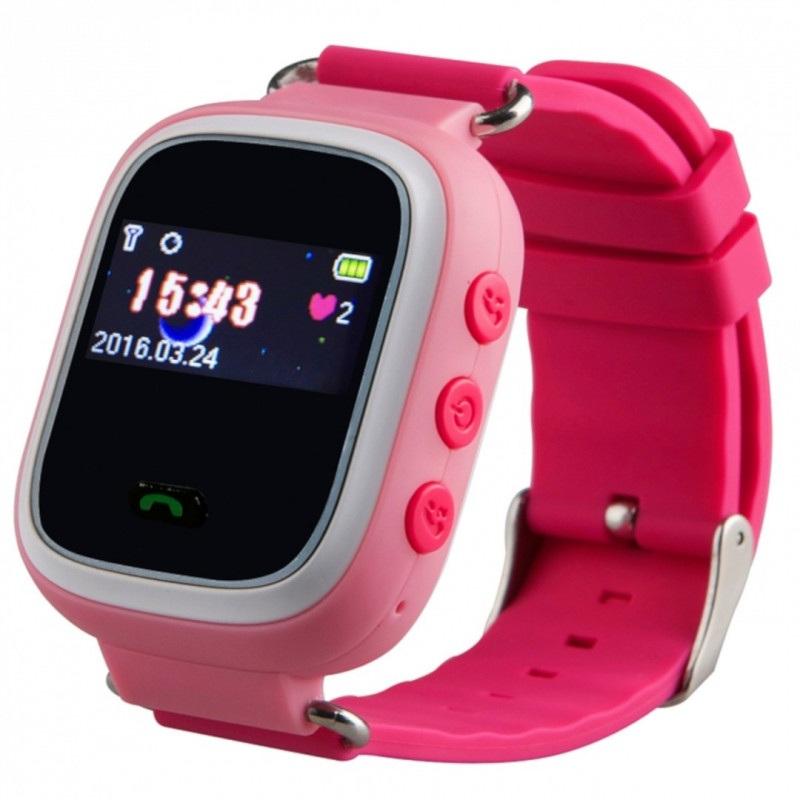 Zegarek dla dzieci z lokalizatorem GPS - różowy