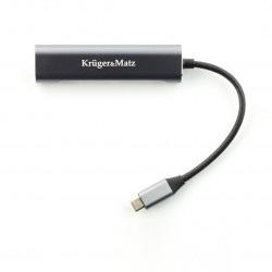 Adapter (HUB) USB typu C na HDMI / USB 3.0 / USB 2.0 / C port