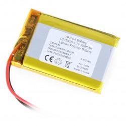 Akumulator Li-Pol Akyga 980mAh 1S 3.7V - złącze JST-BEC + gniazdo