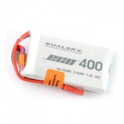 Pakiet LiPol Dualsky 400mAh 35C 2S 7.4V