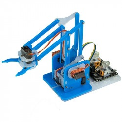 Ramię robota MeArm dla Arduino - niebieskie