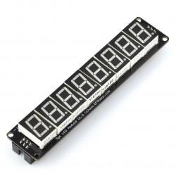 Moduł 8 x wyświetlacz 7-segmentowy SPI do montażu