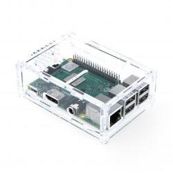 Obudowa Raspberry Pi Model 3B+/3B/2B z mocowaniem na kamerę -