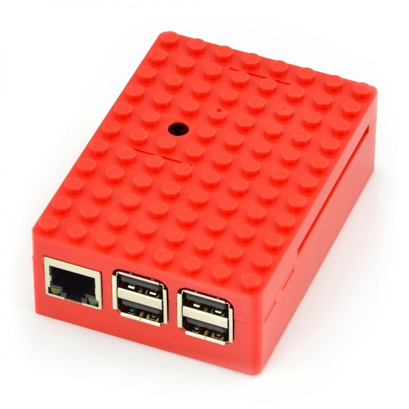 Pi-Blox - Obudowa Raspberry Pi Model 3/2/B+ - czerwona